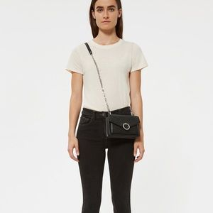 Rebecca Minkoff Jean Crossbody in black / gold